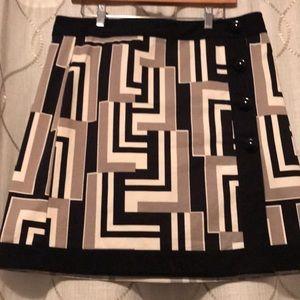 Dresses & Skirts - Geometric short skirt Ann Taylor